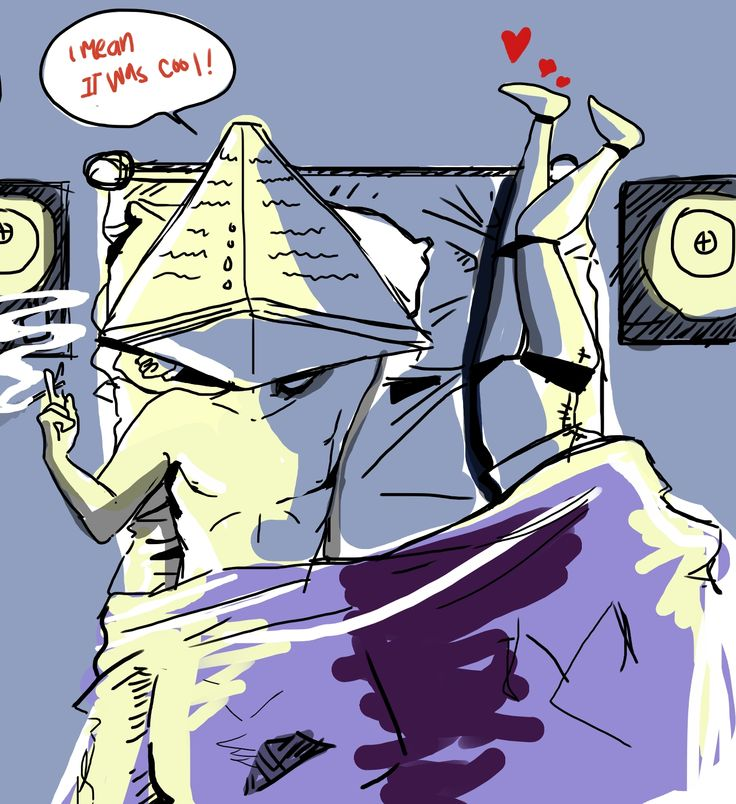 """Pyramid head and some legs  Silent Hill 2 """"i mean it was cool"""" :)"""