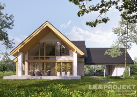 Projekty domów LK Projekt LK&1342 - http://lk-projekt.pl/lkand1342-produkt-9660.html