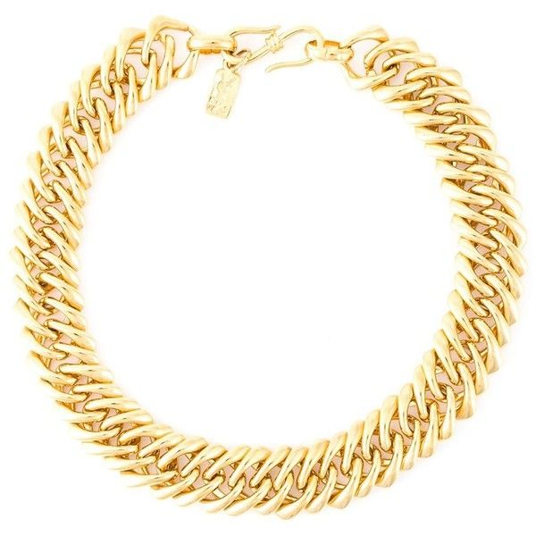 Yves Saint Laurent Vintage Chunky Choker Chain Necklace ($623) ❤ liked on Polyvore featuring jewelry, necklaces, metallic, vintage jewelry, chunky choker necklace, vintage jewellery, chunky jewelry and choker jewelry