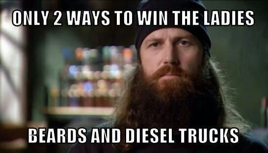 Beards and diesel trucks