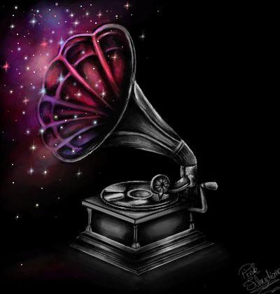 Gramofone...desenho no mural livre do gartic feito por _pink_floydiana
