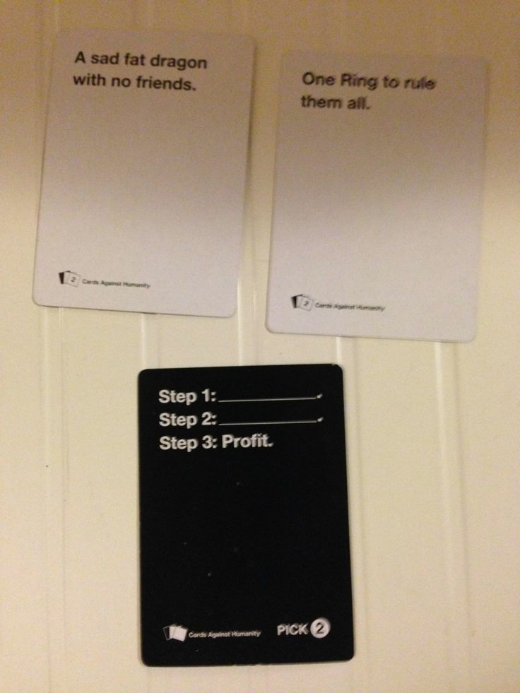 I seriously need to buy Cards Against Humanity soon.