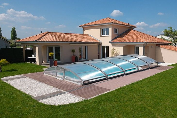 Abri t lescopique pour piscine waterair abris de for Abri piscine waterair