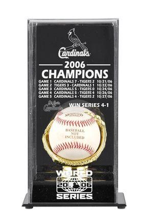 "2006 St. Louis Cardinals World Series Champions Display Case: ""Celebrate the 2006 St. Louis… #SportingGoods #SportsJerseys #SportsEquipment"