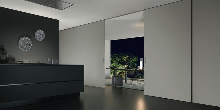 Rimadesio - Graphis plus porte scorrevoli per interni in vetro e alluminio, arredamento casa e ufficio - sliding_systems - Rimadesio