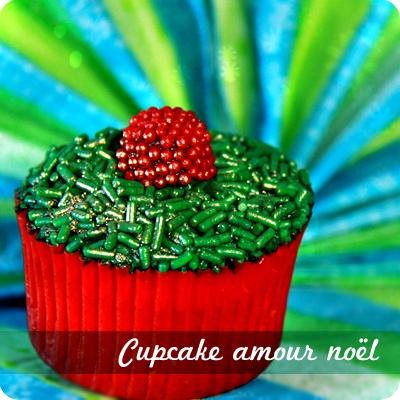 Cupcake amour Noël.
