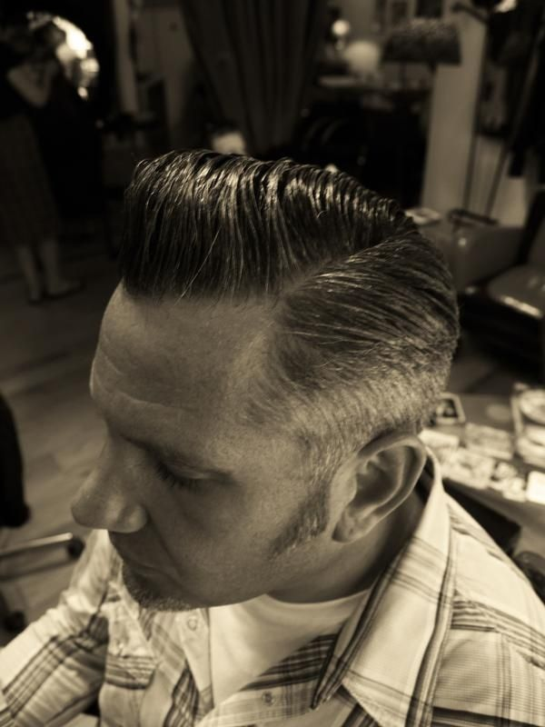 Straight up greaser style!!! Male Rockabilly hairstyle - hairdo