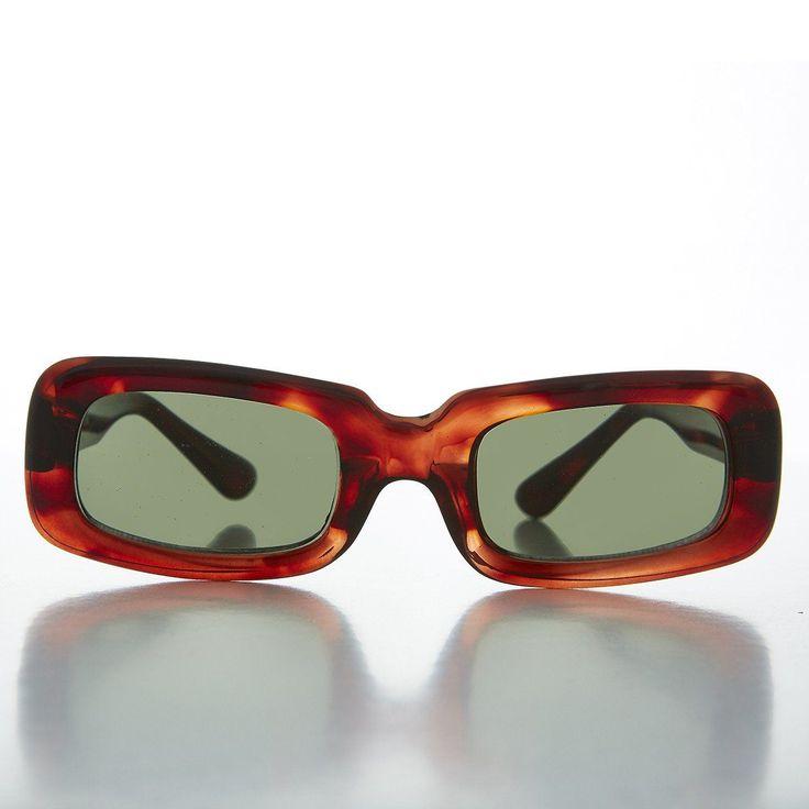 Mod Beatnik Rectangular Rare Punk Vintage Sunglasses - Yoko