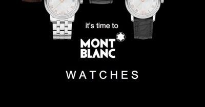 MONTBLANC IT'S TIME TO MONTBLANC WATCHES