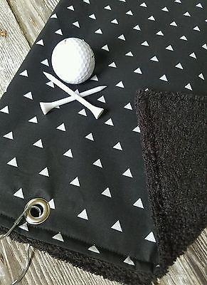 Golf Towel, Mens Golf Towel,  Black Golf Towel, Terry Cloth Golf Towel, Golf