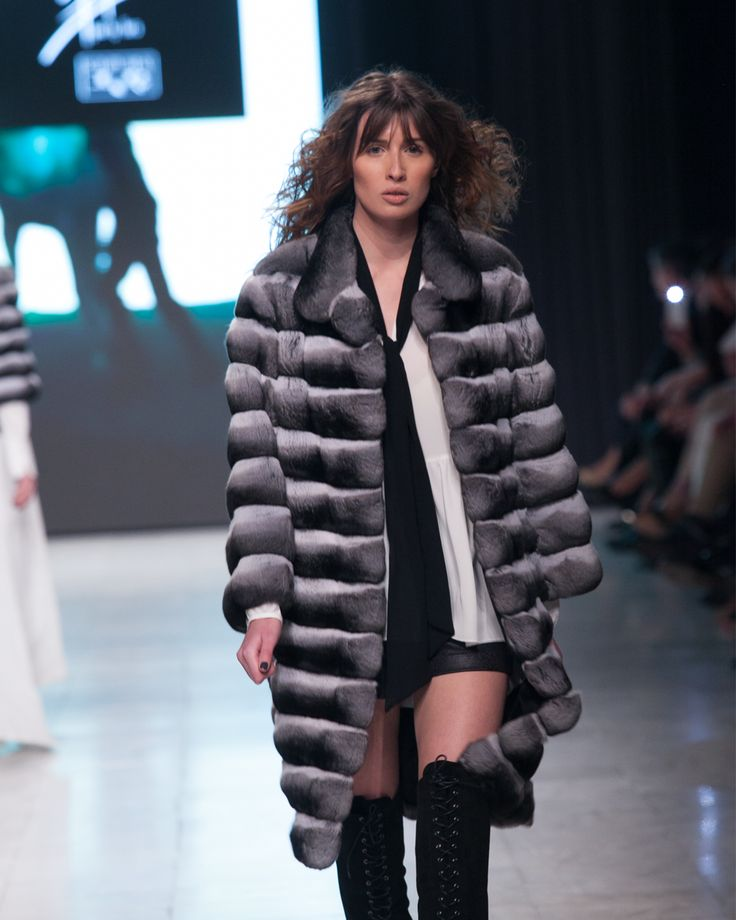 Black & White chinchilla fur coat.