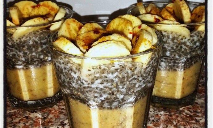 Chia pudink s banánem a skořicí