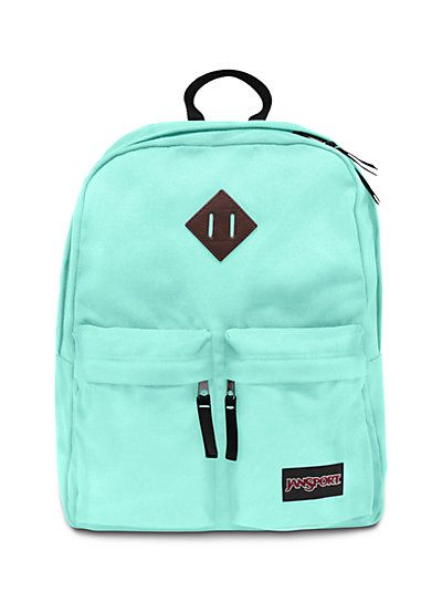 Hoffman bag by JANSPORT. Had no idea they came so cute, but maybe I'm biased because of the color