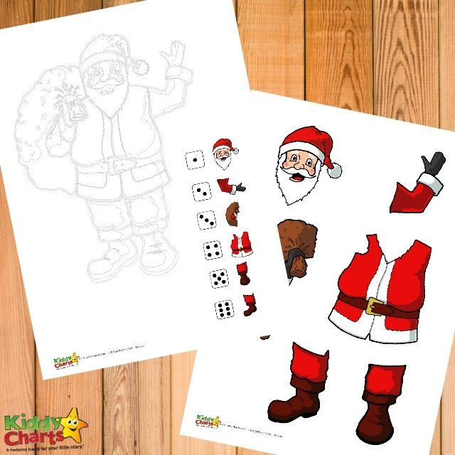 Free Printable Roll a Santa Numeracy Game for Kids