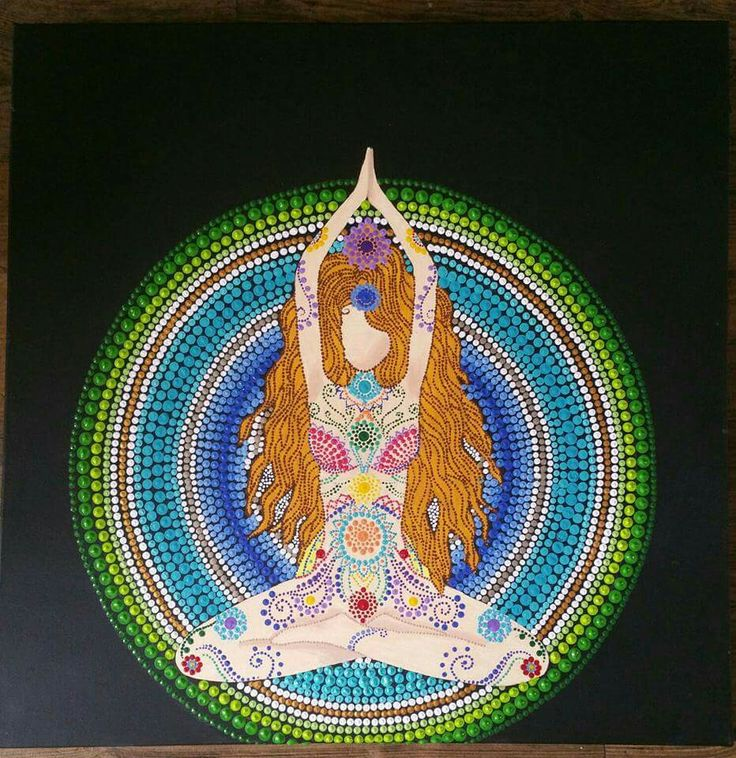 Meditatie dotting mandala Siem Moon Art