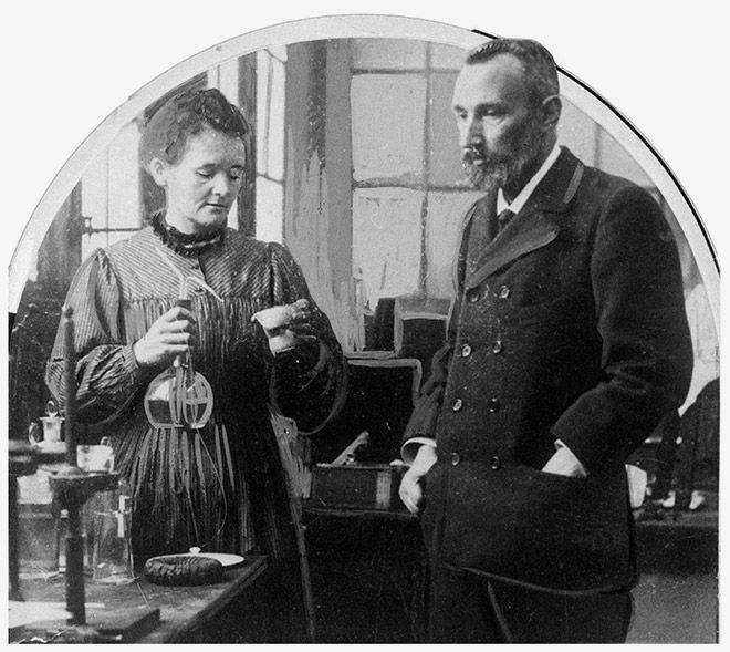 Nobel Prize winners Marie and Pierre Curie discovered radium in 1898.