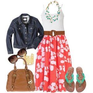 Floral Skirt - Plus Size