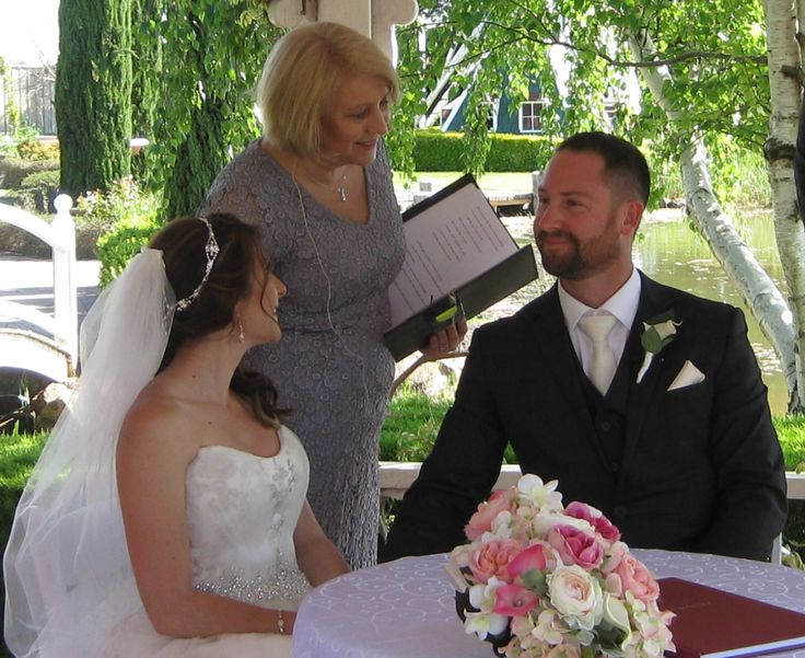 Sharing a moment with the couple at the signing of the Certificate of Marriage