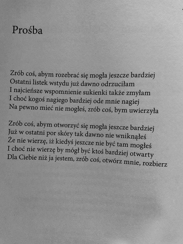 """Rafał Wojaczek """"Prośba"""""""