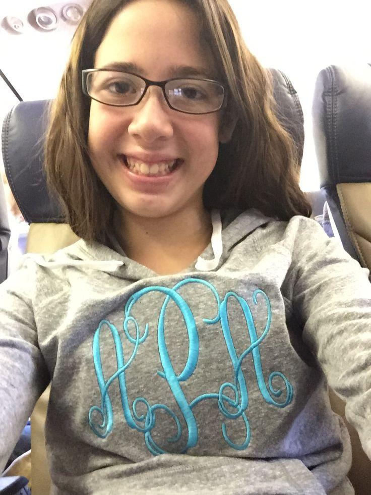 My sweet girl rock'n her new hoodie!