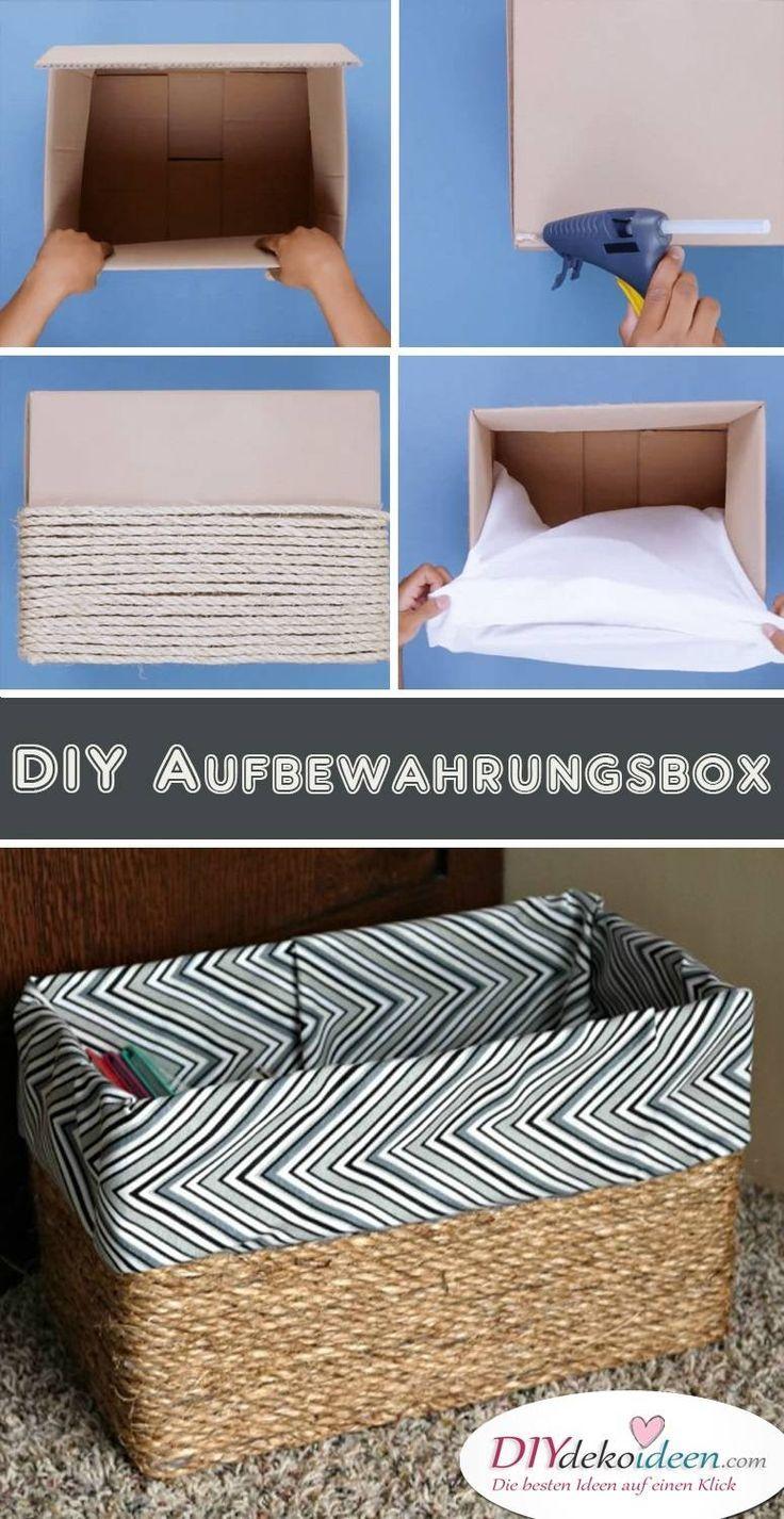 Mit dieser Bastelidee kreieren Sie eine Aufbewahrungsbox – #Storage box …