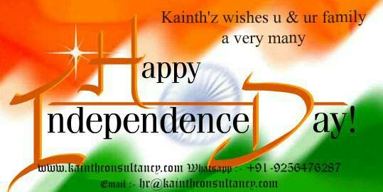 Wishing you a very Many Happy Independence Day 2016  #Azadi #diwas #Independence #Sacrifice #Country #love #Prem #India #Bharat #Army #Jawan #Delhi #Culture #Kainthz #whatsapp  http://kainthconsultancy.com/happyindependenceday-azadi-70years/