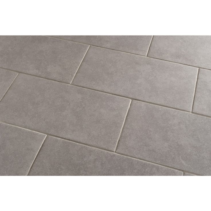 Shop style selections mitte gray glazed porcelain floor tile common 12 in x 24 in actual 11 - Lowes floor tiles porcelain ...
