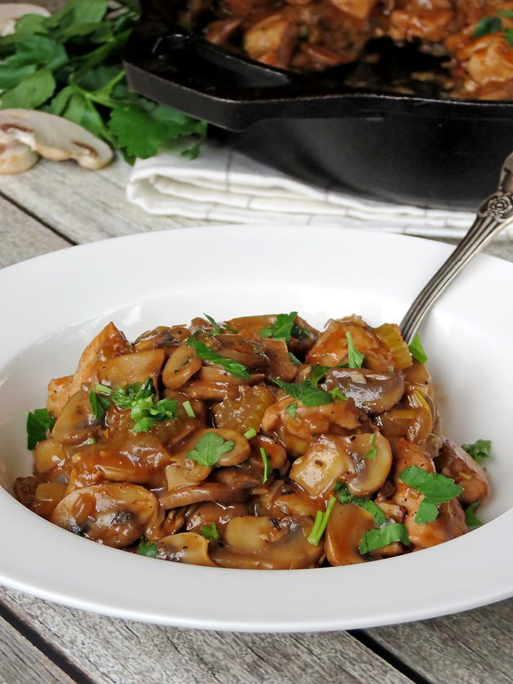 Comforting Chicken & Mushroom Stew | @yummyaddiction