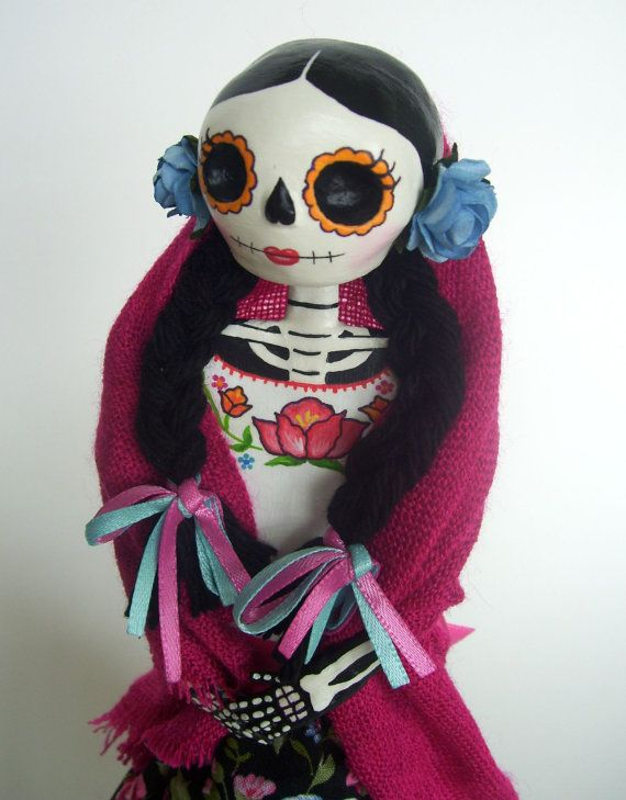 Hey, I found this really awesome Etsy listing at https://www.etsy.com/listing/160360888/paper-mache-catrina-dia-de-los-muertos