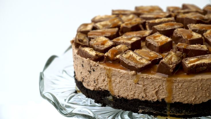 Cheesecake met oreo's en snickers