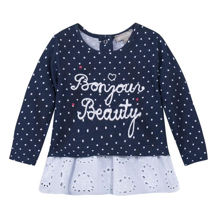 Tunica in cotone e pizzo san gallo disponibile su http://it.zgeneration.com/it/ #cotton #ss15 #littlegirl #pois