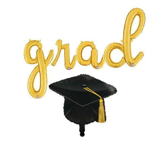 GRAD Cursive letter balloons - GRAD balloons - Grad party decoration - Graduation decorations