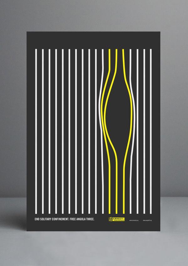 Amnesty International   Free Angola 3 Poster on Behance Optical Illusion