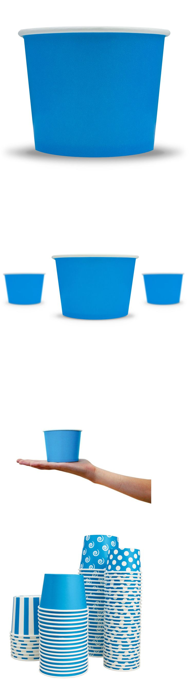 Serving Utensils and Sets 137750: Frozen Dessert Supplies Blue Paper Ice Cream Cups -> BUY IT NOW ONLY: $64.4 on eBay!