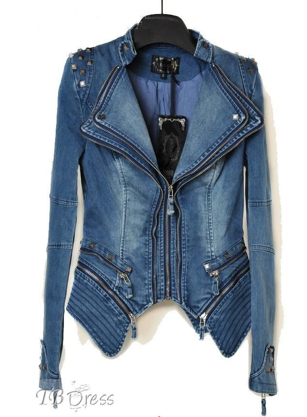 Leisure Design Women's Long Sleeve Jean Jacket
