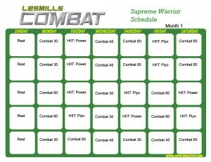 Les Mills Combat Supreme Warrior Month 1