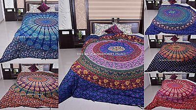 Hippie Mandala Handmade Duvet Covers Indian Throw Quilt Cover Bedding Decor