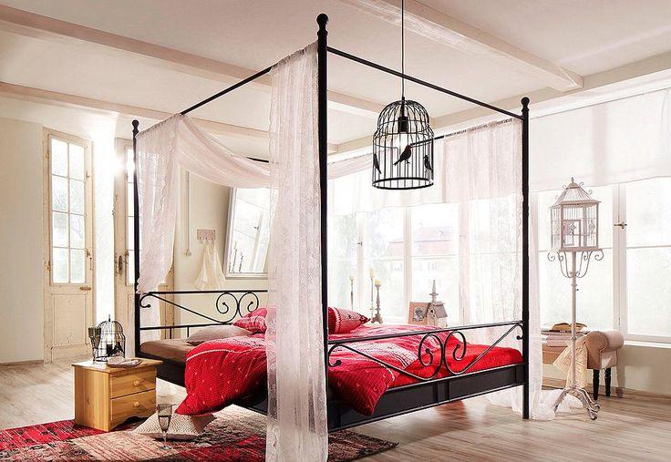 dieses himmelbett zaubert eine romantische atmosph re in ihr schlafzimmer aus stahlrohr mit. Black Bedroom Furniture Sets. Home Design Ideas