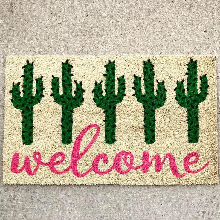 Cactus welcome mat