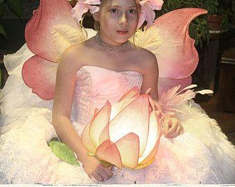 Rosa Lily Stargazer inspirado luminaria lámpara por renaeleataylor