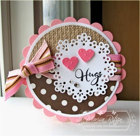 valentines card hugs