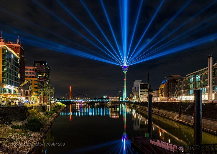 Rheinturm Dusseldorf Illuminated by twfoto #architecture #building #architexture #city #buildings #skyscraper #urban #design #minimal #cities #town #street #art #arts #architecturelovers #abstract #photooftheday #amazing #picoftheday