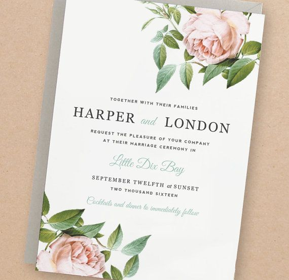 Start your wedding off right with these adorable wedding invitation template ideas! Just like this floral save the date!