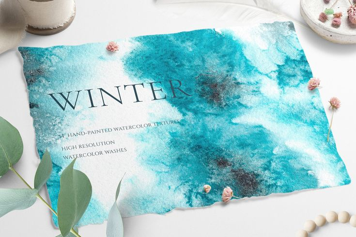 Watercolor Winter Frost Texture by CatherineWheel on @creativemarket