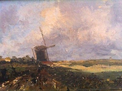 Dutch oil on wood, signed J H Weissenbruch, 1903