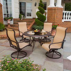 Hamilton big tall 5 piece sling patio dining set seats - Walmart lawn and garden furniture ...