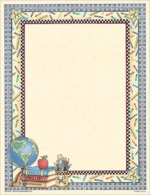 School Stuff Computer Paper from Debbie Mumm