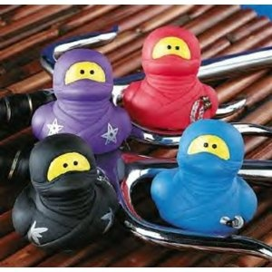 Lot of (12) Mutant ~ Rubber Ducks ~ Ninja Party Fun Favors for karate party