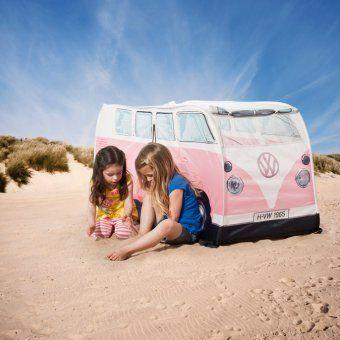#design3000 VW-Bus Kinderzelt – Spielzelt für drinnen und draußen im original Look des T1 VW-Bus von 1965