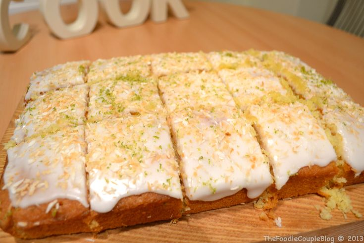Lime & Coconut Traybake | The FoodieCouple Blog